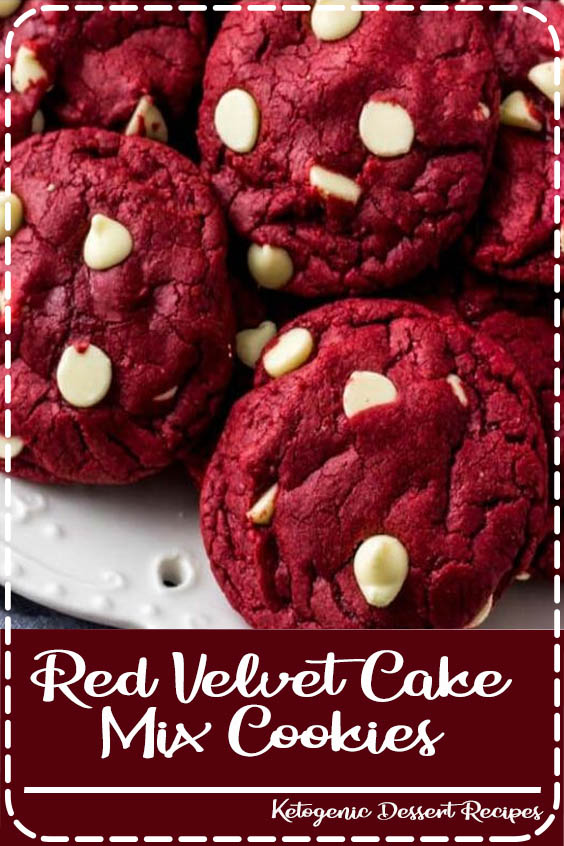These Red Velvet Cake Mix Cookies are soft Red Velvet Cake Mix Cookies