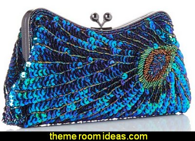 Beaded Sequined Peacock Purse   Bags - Handbags and More Bags! - shoulder bags - unique bags - evening bags - wallets - fashion bags - luggage - backpacks -  purse jewelery