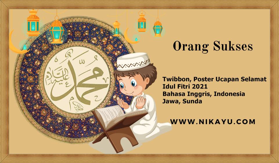 Link Download Twibbon, Poster Ucapan Selamat Idul Fitri 2021 Bahasa Inggris, Indonesia, Jawa, Sunda