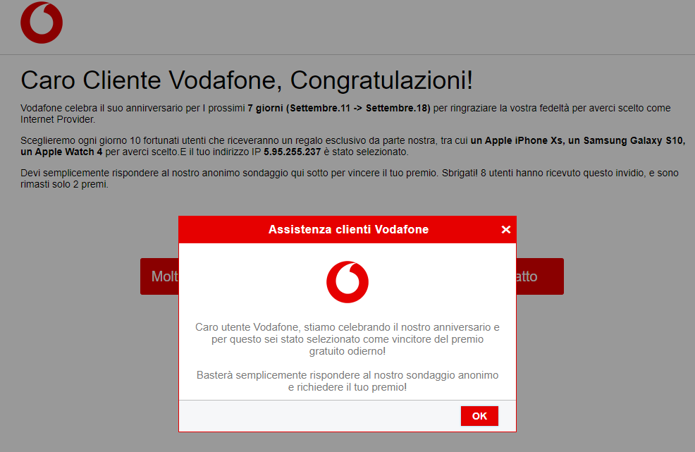 Gentile Cliente di Poste Italiane, Sei stato selezionato per