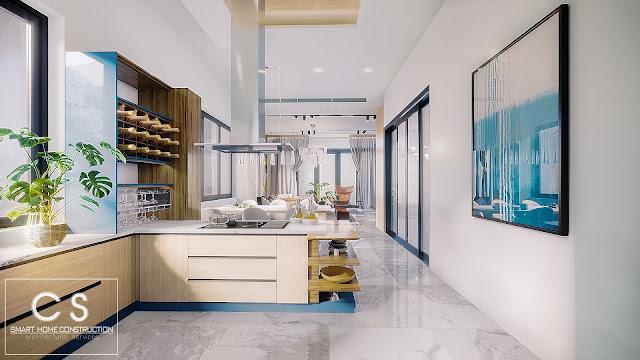 trang trí nội thất cho căn bếp trở nên đẹp và ấm áp hơn