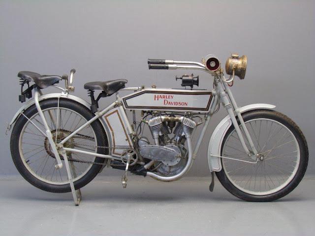 Harley-Davidson Model 9E American vintage motorcycle
