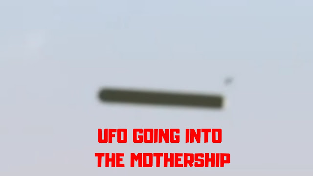 UFO actually going in to the Mothership UFO.