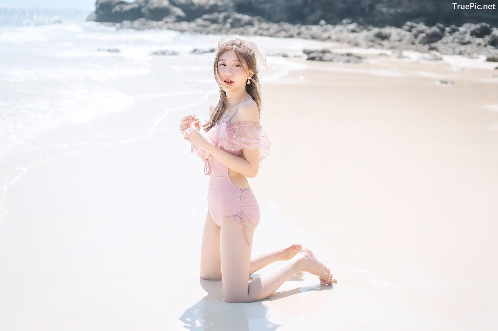 Image Thailand Model - Sasi Ngiunwan - Pink Monokini - TruePic.net - Picture-3