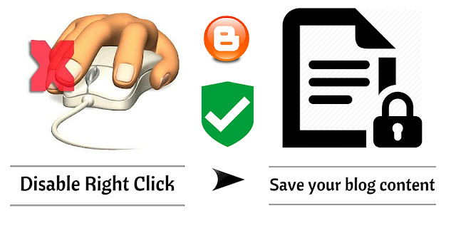 Disable right click in blogger, disable right click