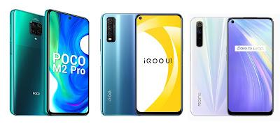 Poco M2 Pro vs iQOO U1 vs Realme 6