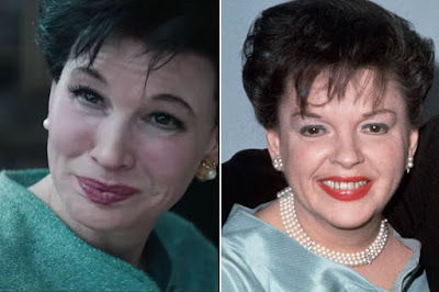 Renée Zellweger and Judy Garland comparison