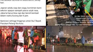 Anies Jahat! Tanpa Marah-marah, Jakarta Langsung Bersih Kembali Pasca Unjukrasa
