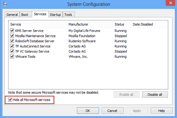 disable windows 8 third-party services