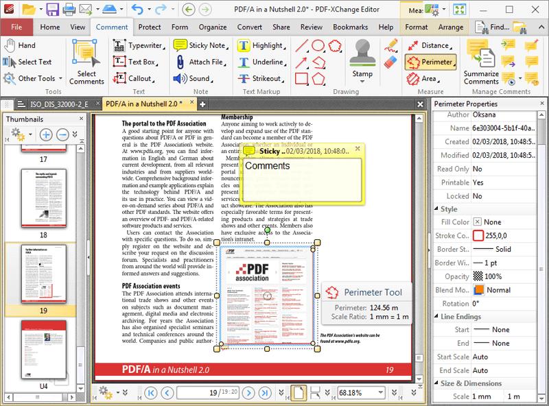 PDF-XChange Editor Main Interface Screenshot