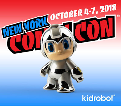 New York Comic Con 2018 Exclusive Mega Man 30th Anniversary Pearlescent Mini Figure by Kidrobot