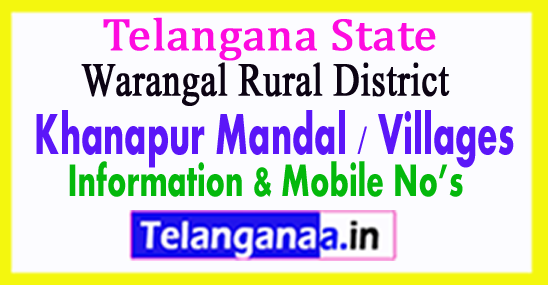 Khanapur Mandal Villages in Warangal Rural District Telangana