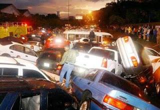 multi car pileup