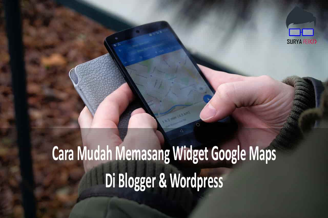 memasang widget google map di blog