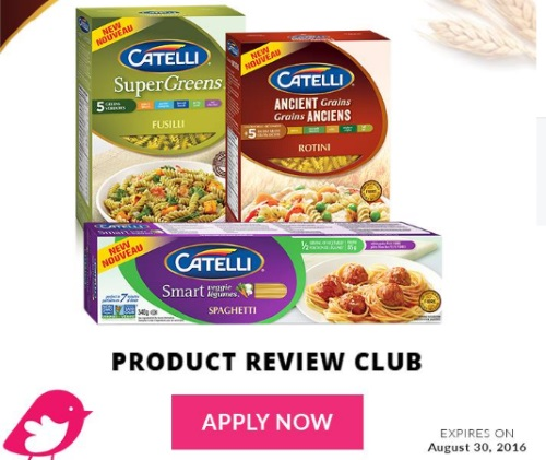 Chickadvisor Product Review Club Catelli Pasta Campaign