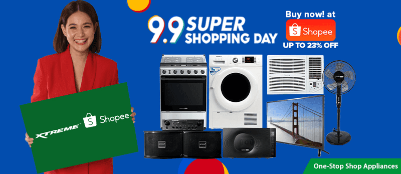 XTREME appliances are at a discount during the Shopee 9.9 Super Shopping Day