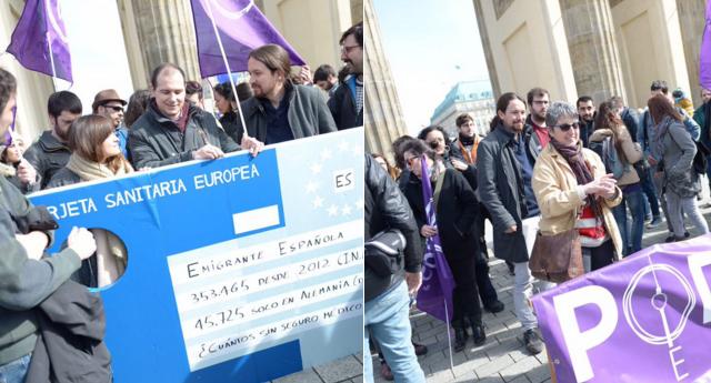 Podemos defiende en Berlín a los emigrados españoles excluidos por Sanidad
