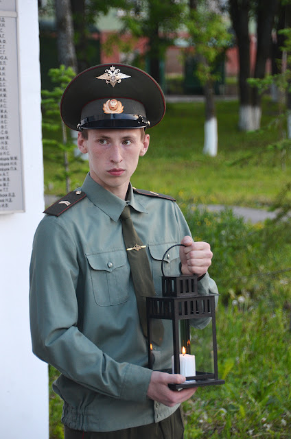 """Акция """"Свеча памяти"""" в Лысьве"""