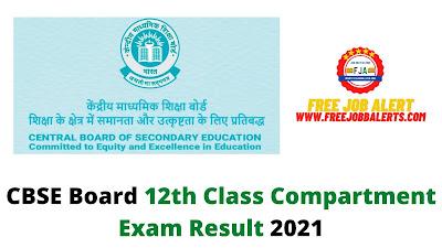 Sarkari Result: CBSE Board 12th Class Compartment Exam Result 2021