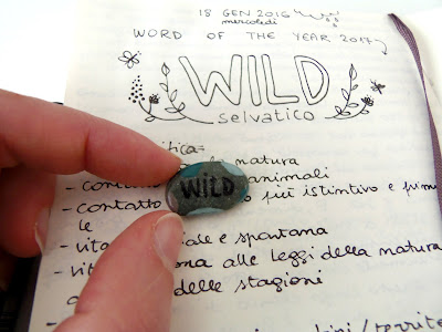 working around your word of the year - wild - painted pebble
