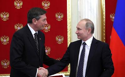 Vladimir Putin, Borut Pahor in Kremlin.