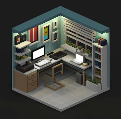 Voxel Office Space