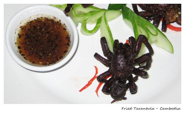 Top 10 Weirdest Food in Asia - Fried Tarantula - Cambodia | Ramble and Wander