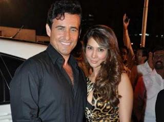 Kim Sharma with her husband Ali Punchani