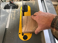 Cutting out a piece of oak