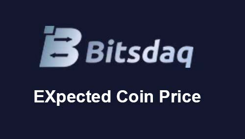 Expected Price of Bitsdaq Coin