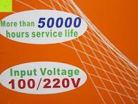 Strom: LIHAO 5M LED Strip Warmweiß 600 SMDs Band wasserdicht Streifen mit Hohlbuchse+Netzteil DC 12V Trafo Set [Energieklasse A]