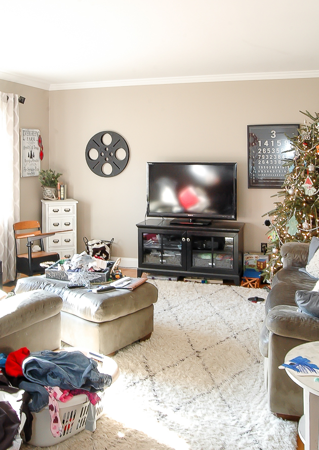 Real Life living room Christmas tour