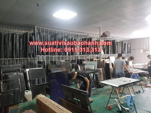 Hình ảnh kho xưởng máy móc phục vụ sửa tivi tại hải dương thực tế của trung tâm