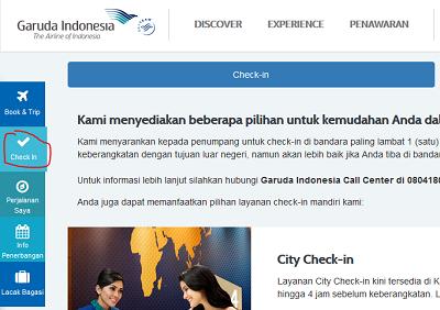 Link atau tautan web check in Garuda Indonesia