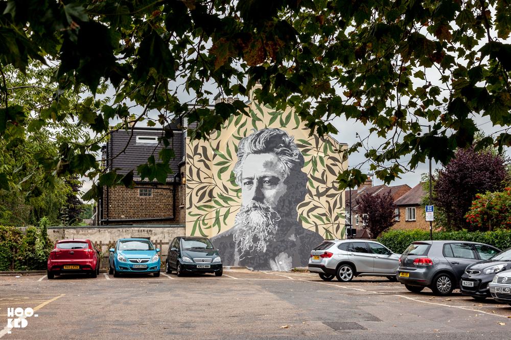 William Morris Mural in Walthamstow, London