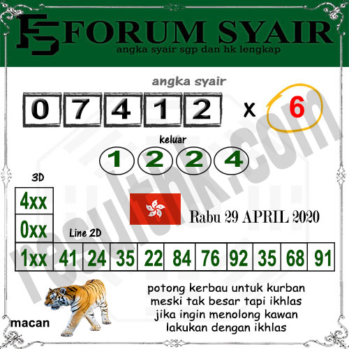 Prediksi HK Malam Ini 29 April 2020 - Forum Syair HK