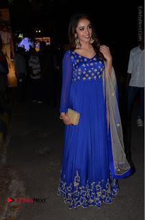 Telugu Actress Tejaswi Madivada Pos in Blue Long Dress at Nanna Nenu Na Boyfriends Audio Launch  0117.JPG