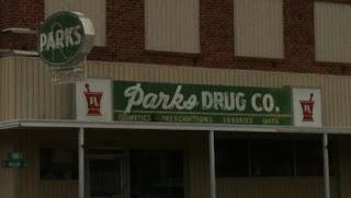 Parks Drug Store Front Sign