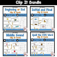 Clip It Task Cards Bundle