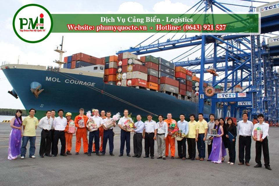 Phú Mỹ Quốc Tế  chuyên cấp các dịch vụ logistics