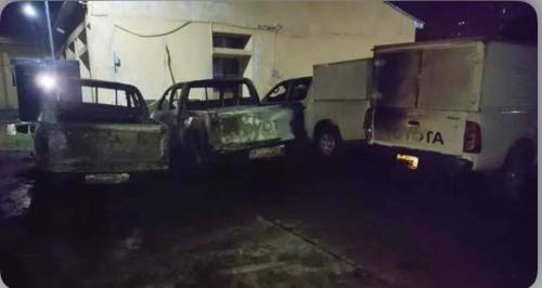 Six Vehicles, Burnt As Hoodlums Attack National Electoral Office In Enugu