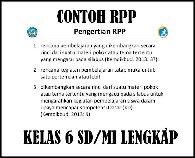 Download Contoh RPP Kelas SD/MI KTSP