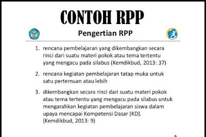 Download Contoh RPP Kelas 6 SD/MI Versi Terbaru 2018