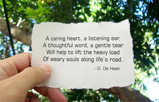 note a caring heart