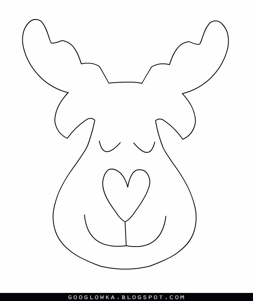 Reindeer Felt Template - Costumepartyrun