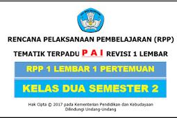 RPP 1 Lembar PAI Kelas 2 SD/MI Kurikulum 2013