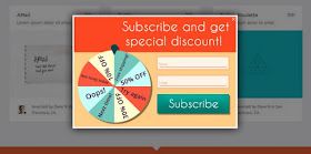 bribing subscribers website popup call-to-action banner ads subscription new posts