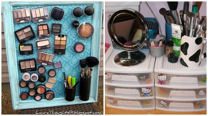 ideas para organizar el maquillaje