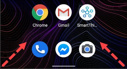 اسحب للداخل من أسفل اليسار أو من الزاوية اليمنى لتشغيل مساعد Google على Android
