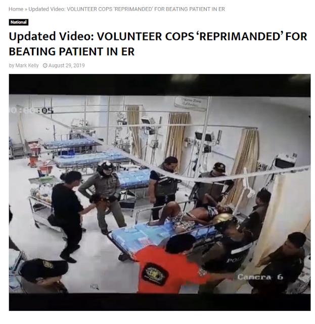 Hoax Polisi Pukuli Orang di Balik Tirai,